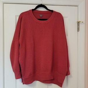 Aerie hometown oversized sweatshirt cycle red